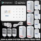 KERUI SYSTEM ALARMOWY GSM PIR DRZWI OKNA DYM SYREN (2)