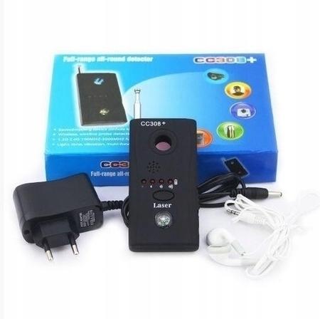 DETEKTOR PODSŁUCHÓW KAMER GPS GSM WYKRYWACZ LASER (1)