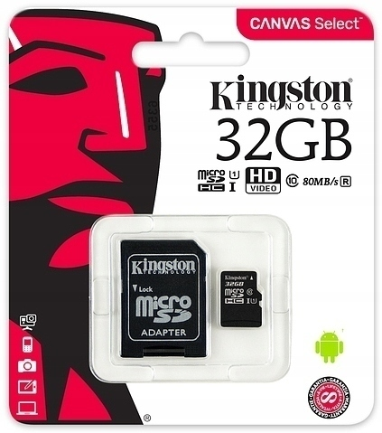 KINGSTONE KARTA UHS 32 GB CLASS 10 DO KAMER GOPRO (1)